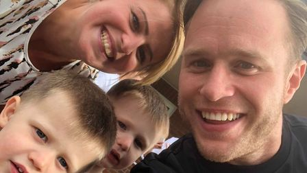 When Olly Murs came to Dereham, Alice Woods knew she had to meet him. Pictured is Olly with the fami