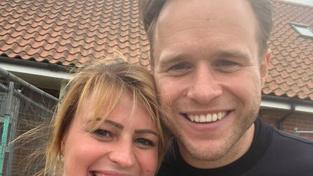 When Olly Murs came to Dereham, Alice Woods knew she had to meet him. Pictured is Olly posing for a