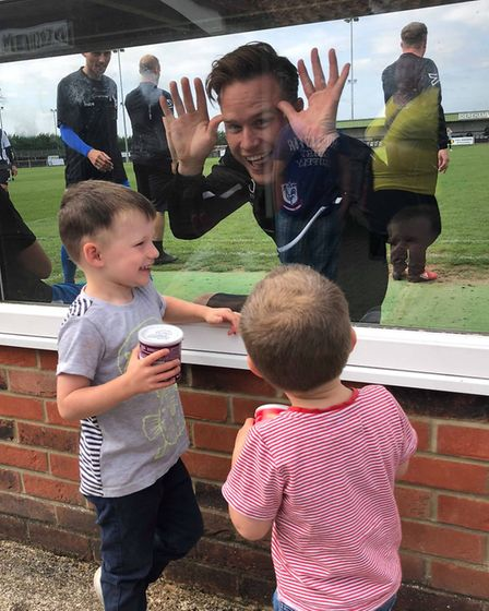 When Olly Murs came to Dereham, Alice Woods knew she had to meet him. Pictured is Olly pulling faces