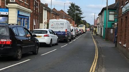 The roadworks on Neatherd Road have already caused long delays in the town. Picture: Dan Bennett.