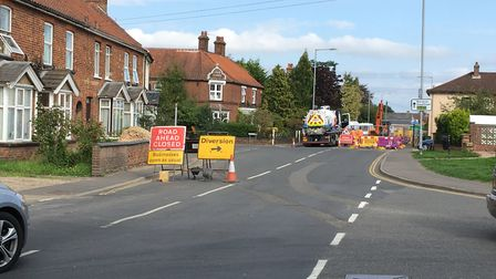 The roadworks on Neatherd Road have caused long delays in the town. Picture: Dan Bennett.