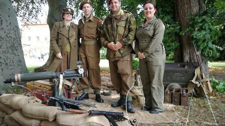 Gressenhall Farm and Workhouse opened its doors for its Village at War event. Pictured are members o