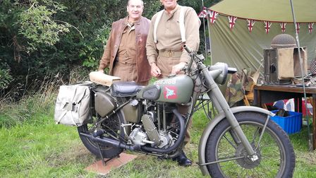 Gressenhall Farm and Workhouse opened its doors for its Village at War event. Pictured is Michael Ru