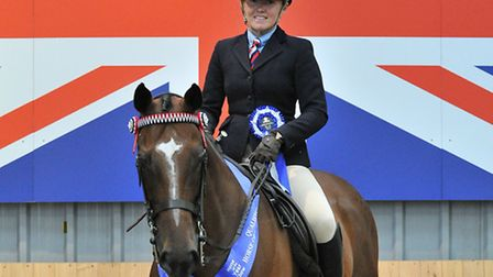 Rebecca Clark on Champagne Perry. Picture: SMR Photos