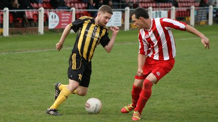 A typically mazy run from Robbie Harris. Picture: Tony Miles