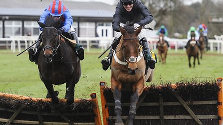 AP McCoy leads a race on Zip Top during a January meeting at Fakenham. Picture: Matthew Usher.