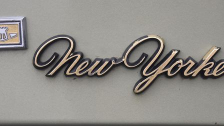 The New Yorker badge on a Chrysler on show at the Reepham Classic Car Festival. Picture: DENISE BRAD