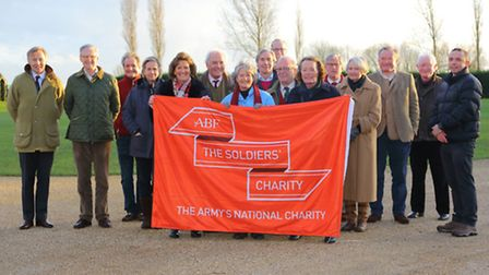Soldiers' Charity supporters who will be helping out at the 'stately' sale.