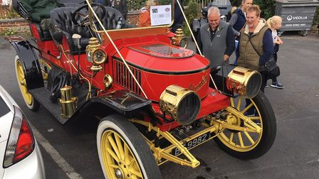 A 1909 Stanley Model K 'Steamer' at the Reepham Classic Car and Bike Festival. Picture: STUART ANDE