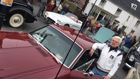 Barry Smith with his 1968 Ford Mustang at the Reepham Classic Car and Bike Festival. Picture: STUART