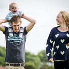 Kaiden Griffin with his parents Kieron Griffin and Kyra Welch from North Creake. Picture: Matthew Us