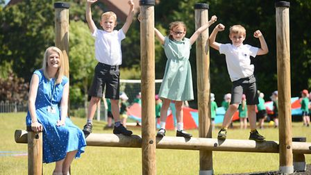 Fakenham Infant & Nursery School has been rated 'good' by Ofsted. Pictured is headteacher Sarah Gall