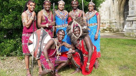The Osiligi Maasai Warriors, from southern Kenya, Africa, will be performed in Dereham. Picture: OSI