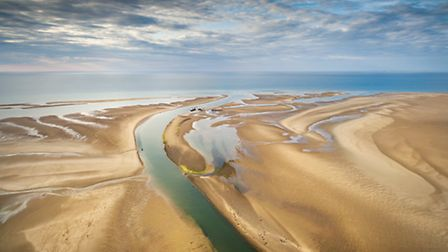 Chris Taylor's aerial view of the coast at Wells which won a prize in the Heliguy competition. Pictu