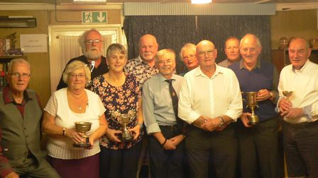 Awards night. Back row, L to R: Richard Meredith, Ray Worby, Sylvia Meredith, Bill Cooper. Front ro