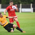 Matty Gilchrist gets stucks in for the Ghosts on Saturday. Picture: IAN BURT