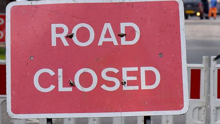 Norwich Road has closed for four days. Picture: Nick Butcher