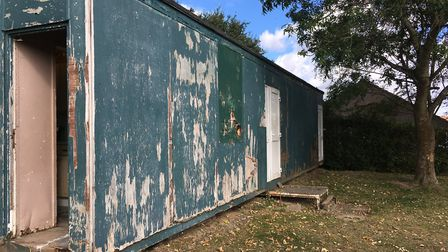 The hut at Toftwood Recreation Ground that Dereham Saints use is in desperate need of repair. Pictur