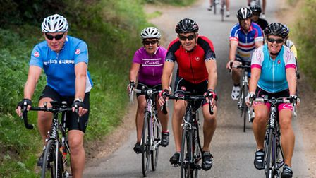 Cyclists take part in the Fakenham 50 cycle ride around North Norfolk last year. Picture: ACTIVE FAK
