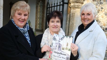 The Shipdham History Group with their new book Shipdham and the Great War. Photo: Shipdham History G