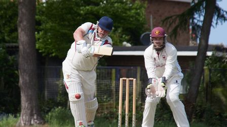 Cookes of Fakenham Man of the Match, Keegan Monaghan-Fairlie on his way to his 68 top score for Fake