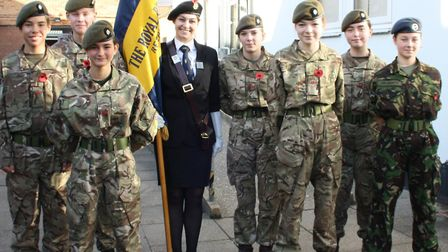 Scenes from the Reepham High School Service of Remembrance. Picture: REEPHAM HIGH SCHOOL.