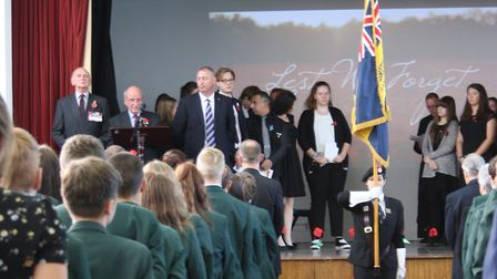 Scenes from the Reepham High School Service of Remembrance. Picture: REEPHAM HIGH SCHOOL