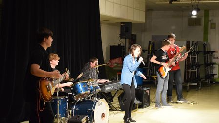 The Cheapskates performed Sweet Child O' Mine. Picture: Marion Broughton