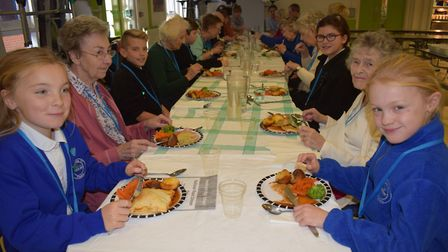Members of the local Dereham community both young and old got together to tuck into a roast at Neath