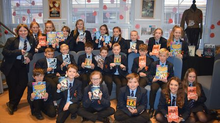 Students in year 7 at Neatherd High School could choose from a choice of books. Picture: Supplied by
