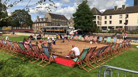 The Thetford seaside at the green at Thetford Riverside Complex. This is one of the events funded by