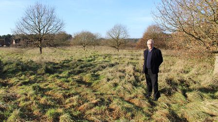 David Winch, director of The Land Group, on the site in Litcham. Photo: Breckland Bridge/The Land Gr