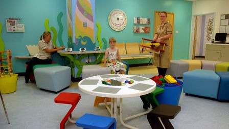 The Jenny Lind children's department at the Norfolk and Norwich University Hospital. A team of staff