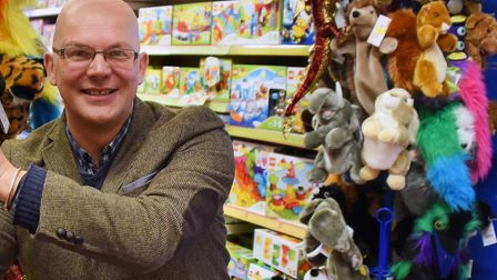 Jonathan Starling, managing director of Starlings Toymaster, at their Dereham store. Picture: DENIS