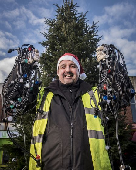 Roger Atterwill has been a key figure in the Dereham Christmas lights display for four years. Pictu