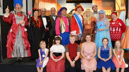 The Creakes Drama Group''s 2019 pantomime, Cinderella. The cast. Pictures: Peter Bird