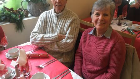 Bruce and Madeline Rodgers of Swaffham were among the guests at the town's Tea Pot Cafe to enjoy a C