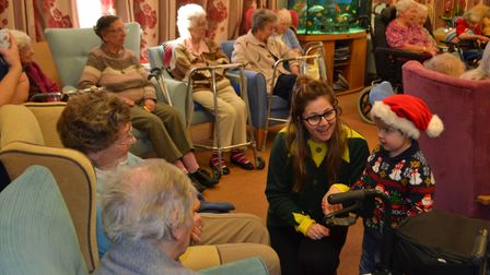 Children from Scarning Little Owls visit their local care home in Dereham. Picture: VICKI COCKERILL