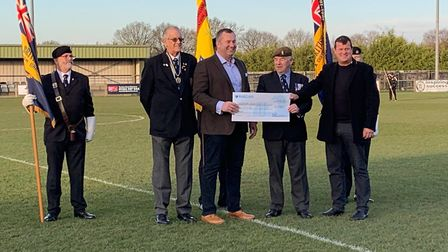 Norwich Allstars and Queens Dragoon Guards XI took part in an annuall game of remembrance to raise h
