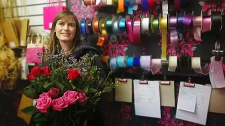 Claire Crummett, 49, has taken over the running of Bright and Beautiful Flowers in Dereham, based on
