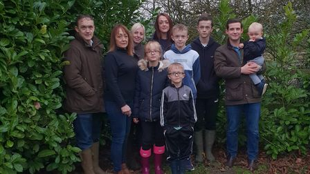 Helen Palmer-Wright, second from left, pictured with her children and grandchildren. Photo: Helen Pa
