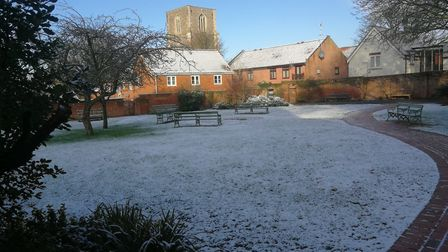 Queen Mother's Garden, in Dereham, in the snow January 30, 2019. Picture: DONNA-LOUISE BISHOP