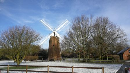Dereham Windmill in the snow January 30, 2019. Picture: DONNA-LOUISE BISHOP