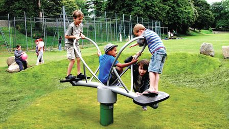 Pictured, what Dereham Town Council hope the play area will look like. PHOTO: RUSSELL PLAY