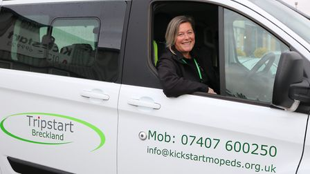Debbie Brown, IAG Support Worker at the launch of the new TripStart minibus. Photo: BRECKLAND COUNCI