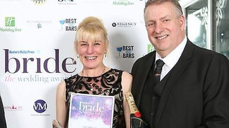 Kim and Alan Wells won best wedding transport at the Bride Awards 2018. Photo: BUS AND US
