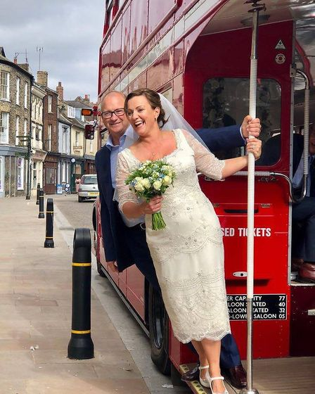 The couple bought their first London double decker bus in December 2013 and launched Bus and Us coac