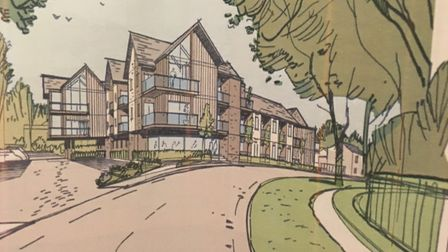Artist's impression of flats at Highfield Road car park in Fakenham. Picture: North Norfolk District