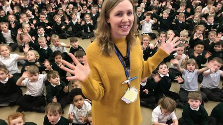 Year 1 teacher Kirsty Ponder, 28, organised the Sign2Sing day at Toftwood Infant and Junior School o