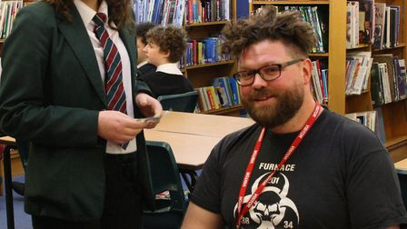 Highly acclaimed Norwich-based author Alexander Gordon Smith spent an entertaining and inspirational
